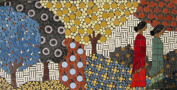Indian Garden mosaic by Ruth Wilkinson