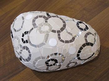 Circle mosaic stone