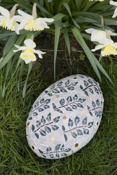 Leaf pattern mosaic stone
