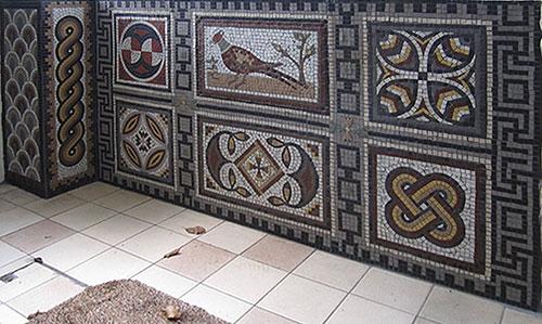 Roman wall mosaic