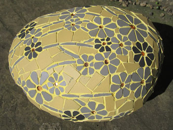 Yellow mosaic stone