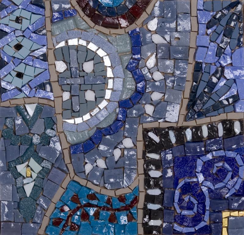 Blue Material Venetian