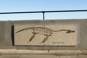 Plesiosaur Mosaic at Robin Hood's Bay Sea Wall