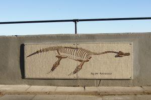Plesiosaur Mosaic at Robin Hood's Bay Sea Wall