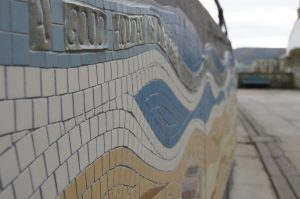 J.B.Priestly quote Robin Hood's Bay Sea Wall Mosaic