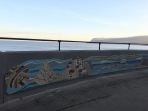 A community knitted together Robin Hood's Bay Mosaic Sea Wall