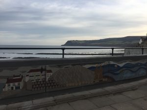 A section of the Robin Hood's Bay mosaic sea wall